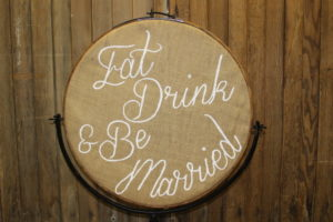 Vintique Rental-Wisconsin Wedding Eat Drink & Be Married Sign