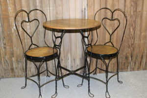 Vintique Rental-Wisconsin Wedding Ice Cream Parlor Table & Chairs