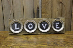Vintique Rental-Wisconsin Wedding Love Sign