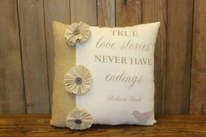 Vintique Rental-Wisconsin Wedding Pillow