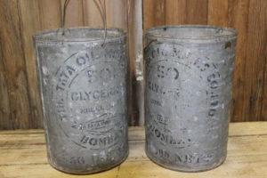 Vintique Rental-Wisconsin Wedding Galvanized Glycerin Buckets