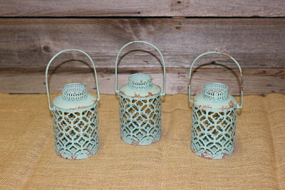 Vintique Rental-Wisconsin Wedding Teal Moroccan Lanterns Small