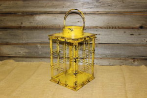 Vintique Rental-Wisconsin Wedding Yellow Box Lantern