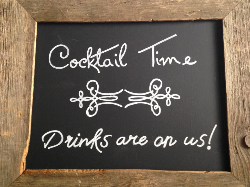 Cocktail Time Chalkboard