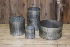 Riveted Tin Vases- Vintique Rental WI