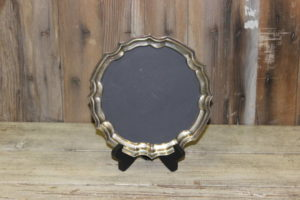 F159: Small Fluted Silver Chalkboard