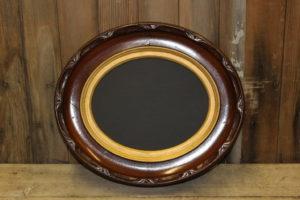 F166: Walnut Oval Fluted Edge Chalkboard