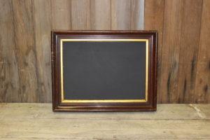 F167: Walnut Gold Edged Chalkboard