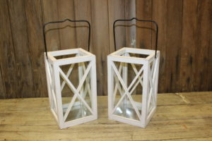 White Wood Lanterns- Vintique Rental WI