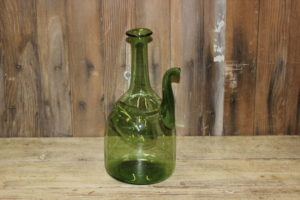 Green Wine Bottle With Spout