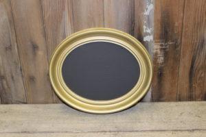 F158(AB): Small Gold Oval Chalkboard