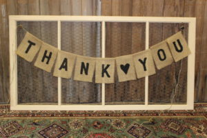 Burlap 'Thank You' Banner