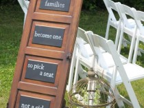 Ceremony Seating Chalkboard Door