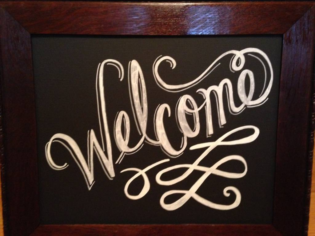 Welcome Chalkboard