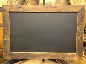 F213 A&B: Barn Wood Rectangular Chalkboard