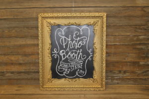 F30: Intricate Gold: Photo Booth Sign