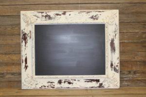 F302: Shabby Chic Cream Chalkboard