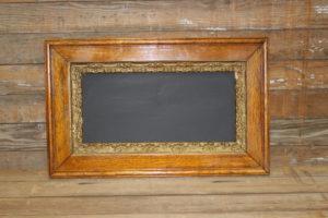 F198 Rectangular Wood & Gold Chalkboard