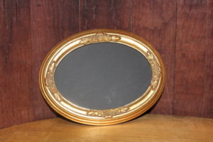 F233: Muted Gold Oval Chalkboard-S