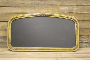 F176 Curved Top Gold Chalkboard
