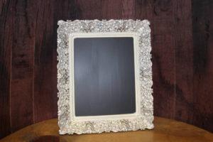 F244 A&B: Bright Floral Metal Chalkboard