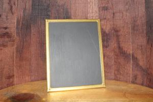 F277: Gold Simple Edged Metal Chalkboard