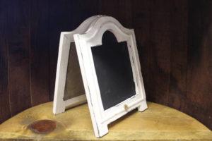F304: Shabby White Bistro Chalkboard