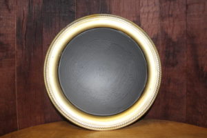 F311: Simple Round Gold Platter