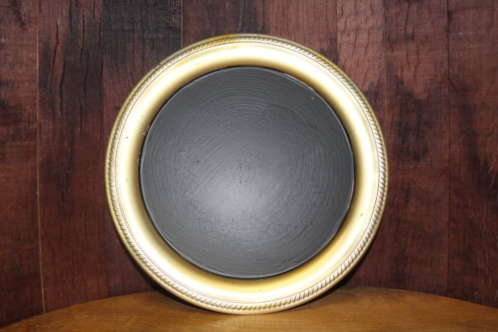 F311 Simple Round Gold Platter