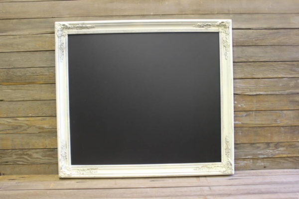 F314: Square Cream Chalkboard