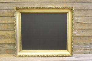 F315: Leaf Edged Bright Gold Chalkboard
