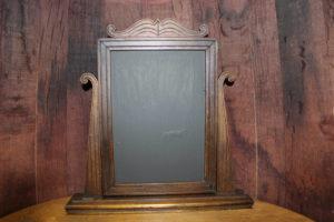 F316: Walnut Art Deco Self Standing Chalkboard