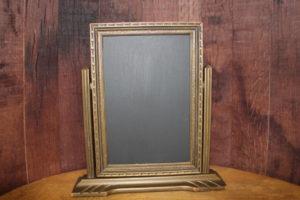F317: Gold Art Deco Self Standing Chalkboard