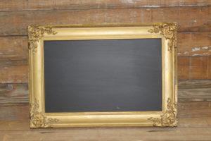 F408: Rectangular Intricate Gold Chalkboard