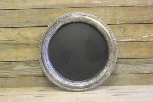 F325: Inner Lace Edged Chalkboard Platter