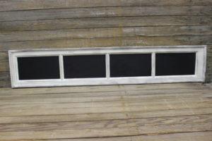 F180: Dusty White 4-Pane Chalkboard