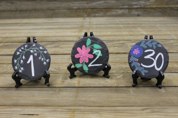 Floral Chalkboard Table Numbers