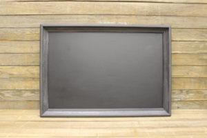 F39: Simple Gray Chalkboard