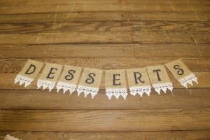 "Bottom Lace ""Desserts"" Banner"