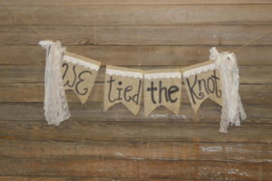 """We Tied The Knot"" Banner"