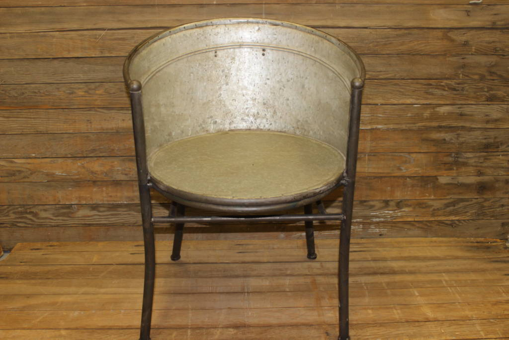 Galvanized Bucket Chair | Vintique Rental