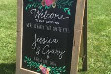 Barn Wood Floral Chalkboard