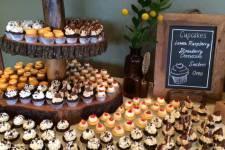 Fall Cupcake Display