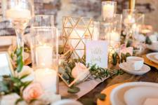 Modern Geometric Table Styling