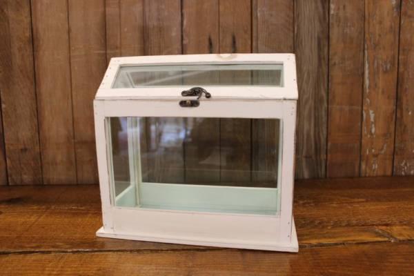 White Glass Rectangular Card Box