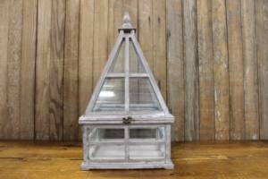 Gray & Glass Pyramid Card Box