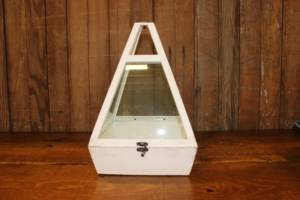 White & Glass Triangular Card Box