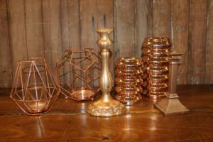 Assorted Copper Candleholders