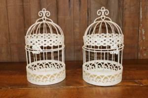 Sparkle White Birdcage-M