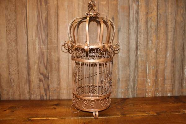 Bronze Wrought Iron Birdcage